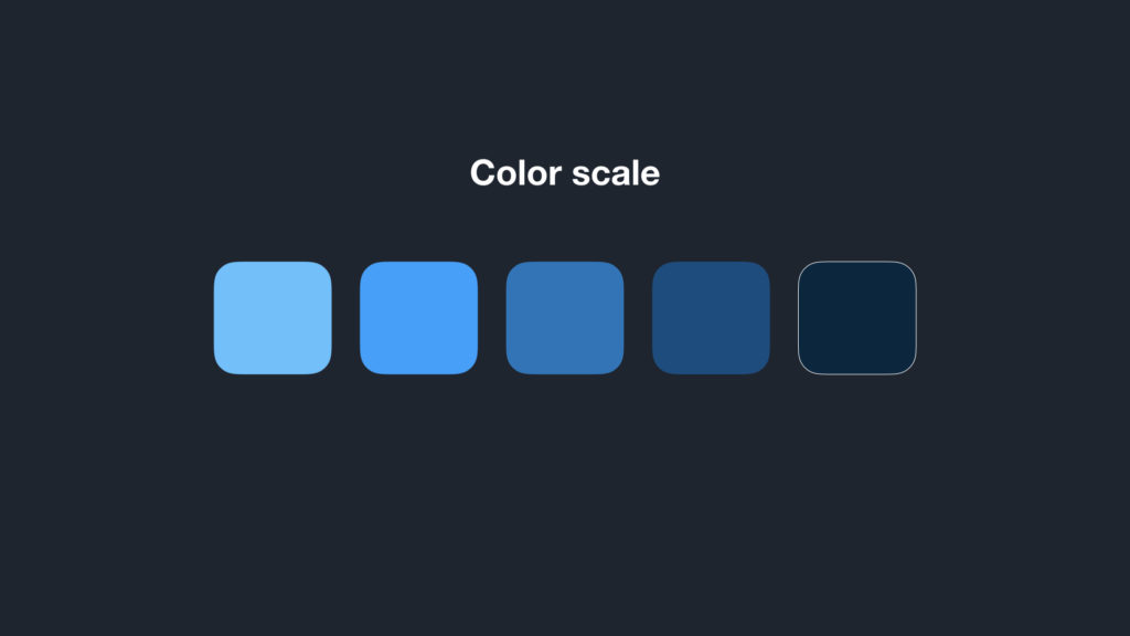 the button background color in a color scale