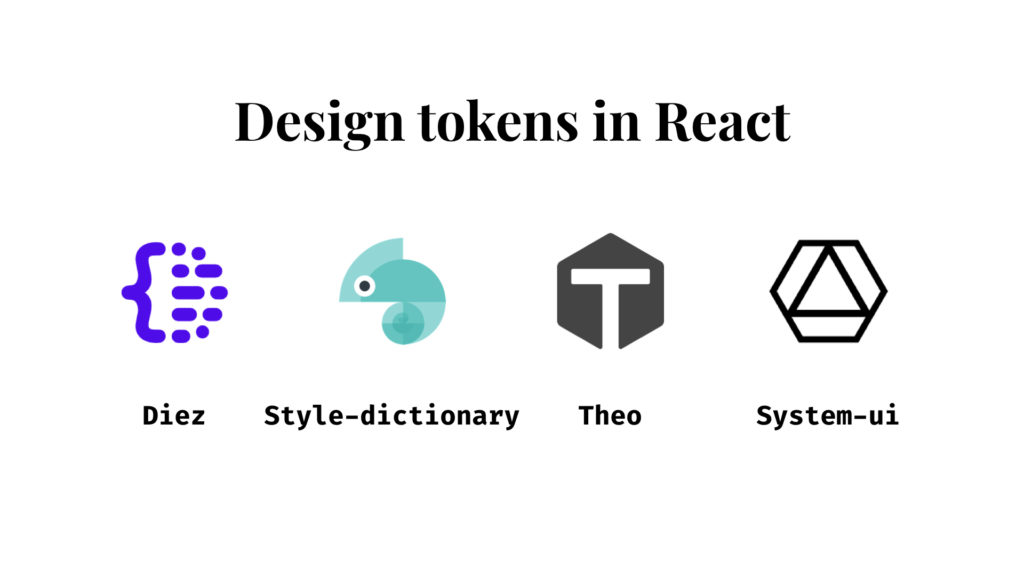 the logos of Diez, Style-dictionary, Theo and System-ui