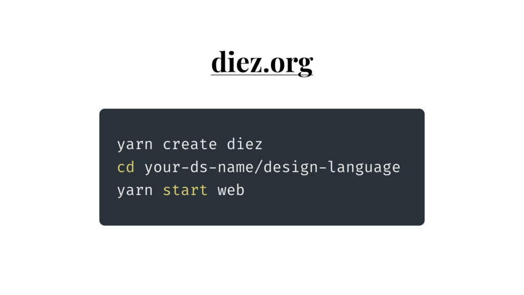 getting started with Diez