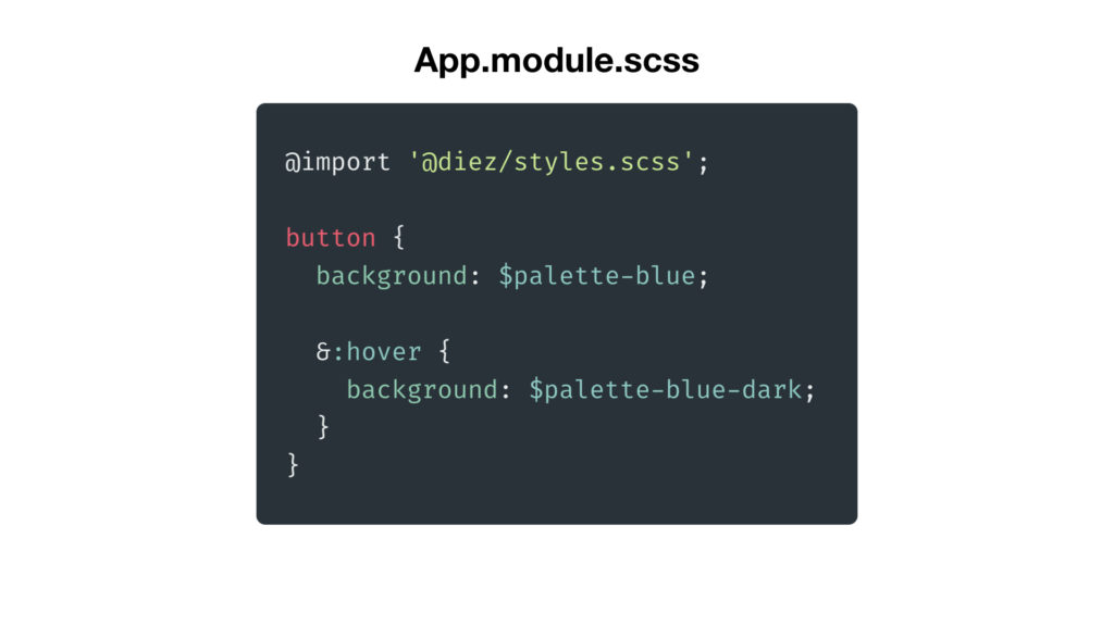 SCSS example of Diez