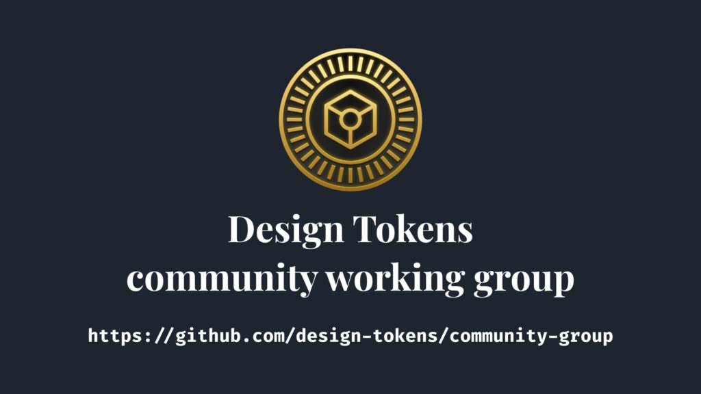 Design tokens community working group